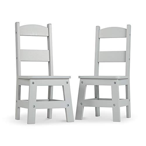 Melissa & Doug - Sillas Wooden Chair Pair - Gray