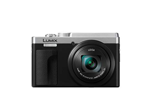 Panasonic Lumix TZ95 - Cámara Compacta Superzoom (21.1 mp, 10 fps, Zoom de 30x, Funciones 4K, Wifi, Bluetooth, Tamaño Bolsillo) Plata