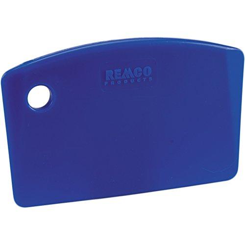 "Remco 69593 Blue Polypropylene Stiff Bench Scraper, Injection Molded Blade, 3.5"" L x 5.5"" W, 1 Piece"