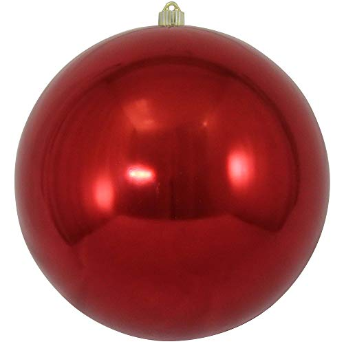 Christmas by Krebs Giant Commercial Shatterproof UV Resistant Plastic Christmas Ball Ornament, 12' (300mm), Sonic Red