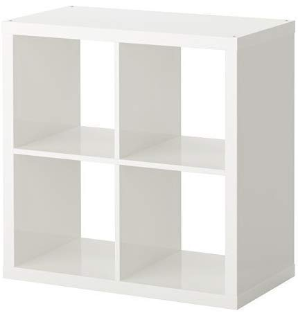 2 X IKEA Kallax - Hyllenhet, Vit - 77 x 77 cm