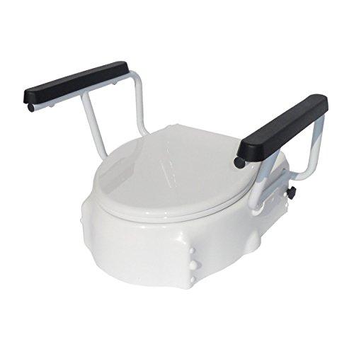 TSE Toilettensitzerhöhung 3-fach höhenverstellbar mit Armlehnen | Toilettenhilfe | Trendmobil
