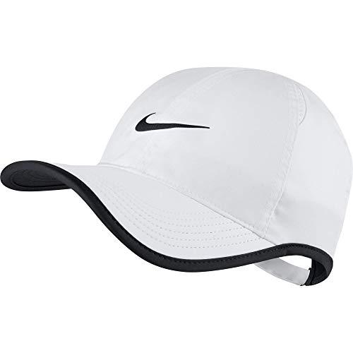 NIKE AeroBill Featherlight Cap, White/Black/Black, One Size