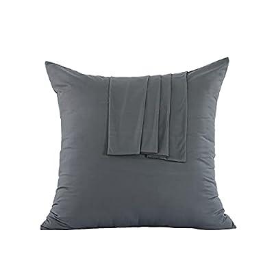 Con una cremallera que facilita la colocación o extracción de la almohada y evita que se deslice. - Las fundas de almohada protegen su almohada de la suciedad y prolongan la vida útil de sus almohadas de plumón 100% microfibra cepillada, nuestras fun...