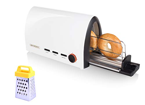 SMART Tunnel Toaster Bundle with Free Mini Grater - Perfect for Buns, Croissants, Bagels, Baguettes, Pitta - STT7000