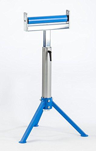 Materialstütze / Rollenbock stufenlos höhenverstellbar mit 300 mm breiter Kunststoffrolle bis 100 kg