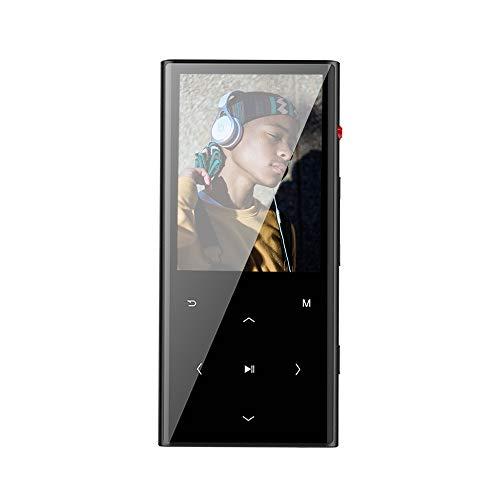 Walkercam M7 8GB Bluetooth 4.1 Lettore MP3 con Pulsante a Sfioramento, Registratore Vocale a un Pulsante, Radio FM, Tempo di Riproduzione di 30 ore, Custodia in Metallo Nero