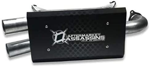 AFTERMARKET ASSASSINS STAINLESS SLIP-ON EXHAUST FOR 2018-2019 RZR XP 1000 & RS1