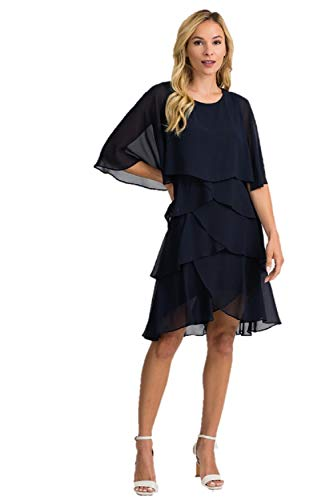Joseph Ribkoff Midnight Blue Dress Style 201176 - Spring 2020 Collection (12)