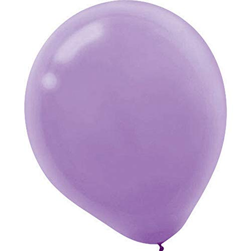 Plain Latex Balloons | Lavender | Pack of 50 | Party Decor