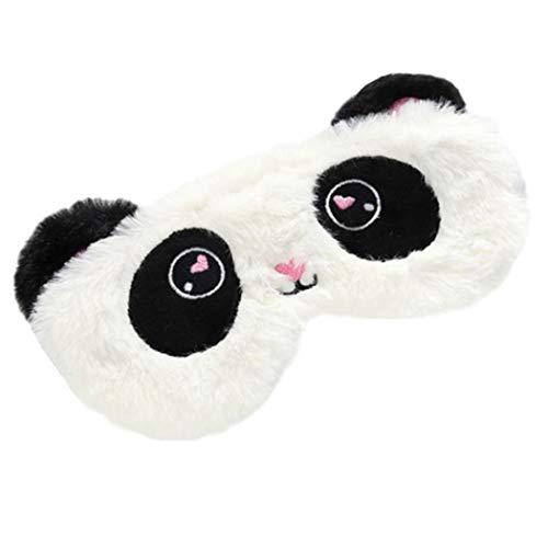 FORLADY Schlafmaske Frauen Unicorn Augenmaske Plüsch Cartoon Shade Augenmaske Shading Für Erwachsene Kind plüsch (Panda schwarz und weiß)