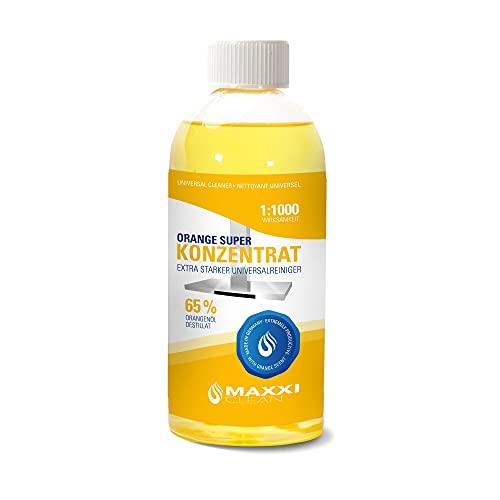 Maxxi Clean Orangenreiniger Konzentrat Reinigungsmittel 500 ml - Universalreiniger als Glasreiniger, WC Reiniger, Badreiniger & Küchenreiniger für Haushalt & Industrie - extra stark