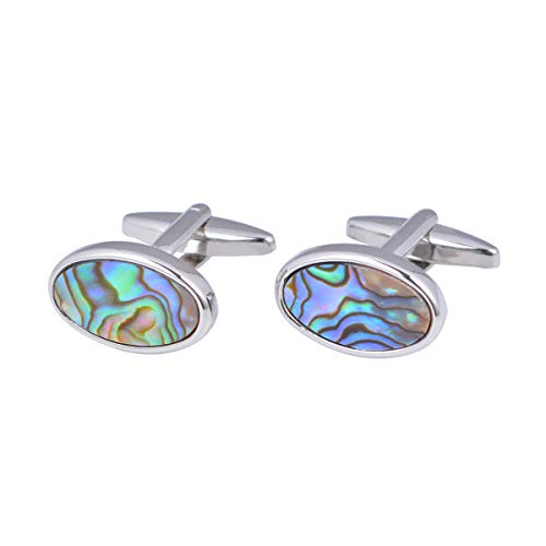EASTVAPS Gemelli Gemelli con conchiglia di abalone naturale Gemelli di colore ovale con fritillari