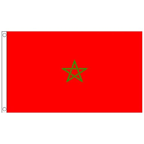 naicasy 90* 150cm Marokkanische Flagge 1Pack