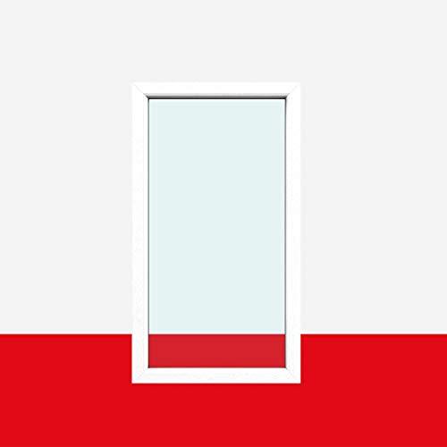 Festverglasung Fenster fest im Rahmen | Milchglas (matte Folie), BxH:800x700 (80x70 cm), Glas:3-Fach