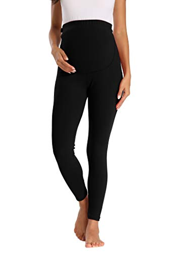 Foucome Women's Over The Belly Super Soft Support Leggings