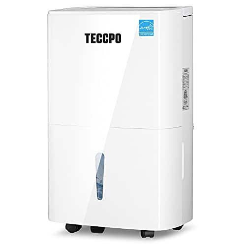 TECCPO 4500 Sq.Ft Dehumidifiers for Basements, Quiet Dehumidifier for Large Rooms with Swing Mode, Intelligent Control, 24H Timer, Child Lock, Continuous Drain Hose