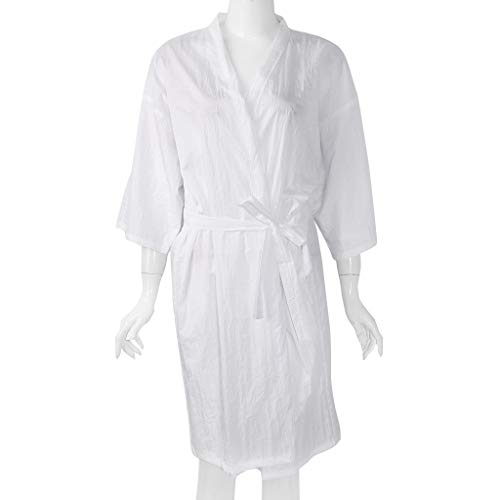 Bolsa de almacenamiento de peluquería con mangas, kimono vestido batas capa de pelo reutilizable, peluquero salón de belleza accesorios de salón de belleza, blanco/rojo