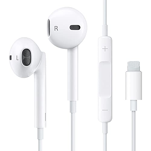 31Y4ugxy5RS. SL500  - (2 Pack) Aux Headphones/Earphones/Earbuds 3.5mm Wired Headphones Noise Isolating Earphones with Built-in Microphone & Volume Control Compatible with iPhone 6 SE 5S 4 iPod iPad Samsung/Android MP3