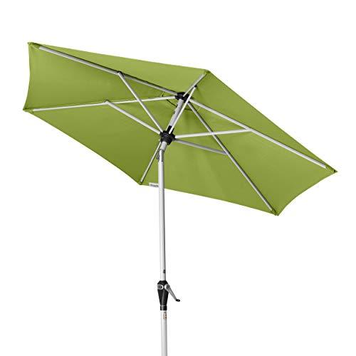 Doppler Active Auto Tilt 210 – Kurbel Sonnenschirm ideal für den Balkon – Regenabweisend – ca. 210 cm – Fresh Green