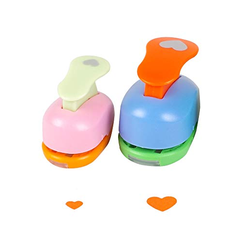 Heart Punch 3/8 inch+5/8 inch Craft Lever Punch Handmade Paper Punch Candy Color by Random?Candy Heart?