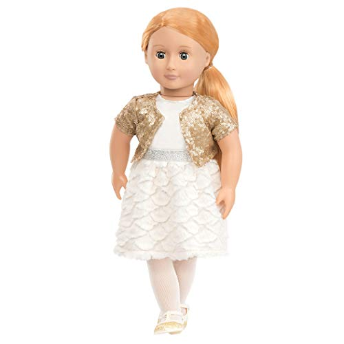 Our Generation 44429 Doll in Sequin Outfit, Puppe Holiday Hope, 46 cm
