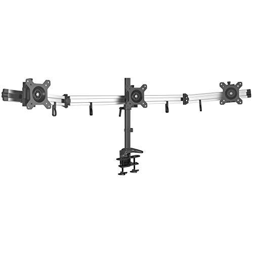 HFTEK Soporte para 3 Tres monitores de Escritorio para Pantalla 15-27 Pulgadas con VESA 75/100 (MP230C-L)