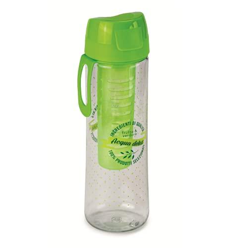 Snips Bottiglia in TRITAN con INFUSORE per AROMATIZZARE 0,75 LT, Plastic, Verde, 7 cm