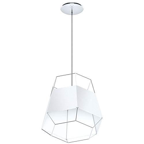 Eglo Fondarella Lámpara E27, 60 W, Blanco y Cromo, diámetro de 35 cm