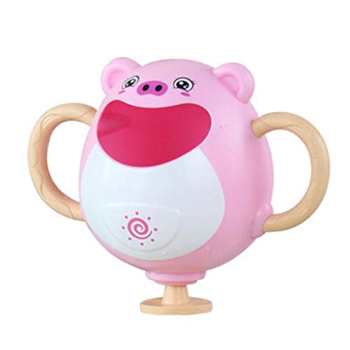 Review Children's Bath Toys Baby Splashing Piggy Frog Fountain Baby Washing Hair Spray Animal Shower...