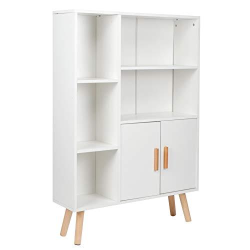 Mobili da ufficio Libreria Armadio a libro 23,5x80x108 cm Design multifunzionale con armadietto a doppia porta per ufficio in casa