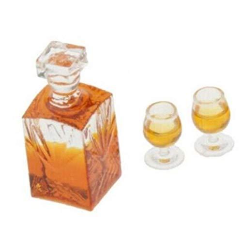 1:12 Dollhouse De La Escala Miniatura De La Botella De Whisky Accesorios Vinería Modelo
