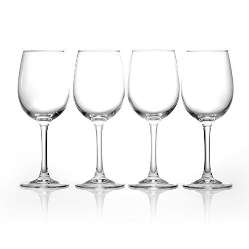 WWWANG Cristal Rojo Copas de Vino del cubilete Paquete sin Plomo de 4 Almacenamiento pequeño, práctico y portátil (Color : Clear, Size : 350ml)