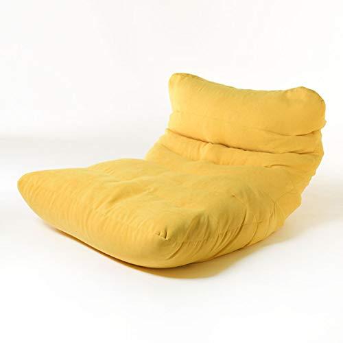 Silla de sofá Bolsa de Frijoles, sofá cómodo Sofá reclinable, sofá Desmontable y Lavable, Cama Perezosa, Muebles de Ocio adecuados para Todos,Amarillo