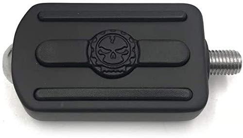 HTTMT MT216-095- Black Skull shifter peg/Toe Heel Rest Peg Compatible with Fits Harlye Davidson 1984-2016 all models (Switchback/Street Bob/Fat Bob/Softail Slim)
