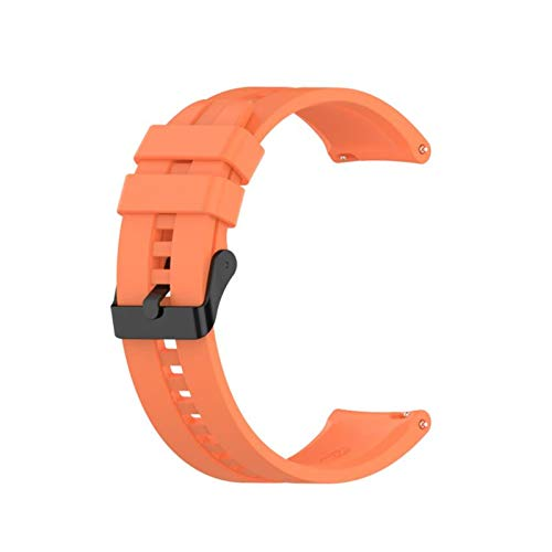 para GT2 Pro Correa Silicone Wamkband para Huawei Watch GT 2 GT 46mm / GT 2E / Honor Magic Band Sport Brazalet 22mm Pulsera (Color : 08 Orange, Size : 22mm)