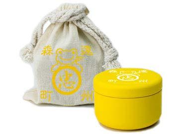 かえるのピクルス・ティーバッグ缶(巾着袋入り)ゆず茶「ティーバッグゆず茶×5個(缶入り)、巾着袋」