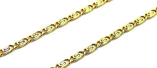 Collana Oro Giallo 18kt (750) Catena Maglia Lumachina Cm 50 Uomo