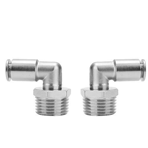 Conector rápido neumático de codo, práctico y robusto Codo de manguera de aire Conexiones rápidas para mangueras de nailon para bombas neumáticas Válvulas para mangueras de PU para(1/2')