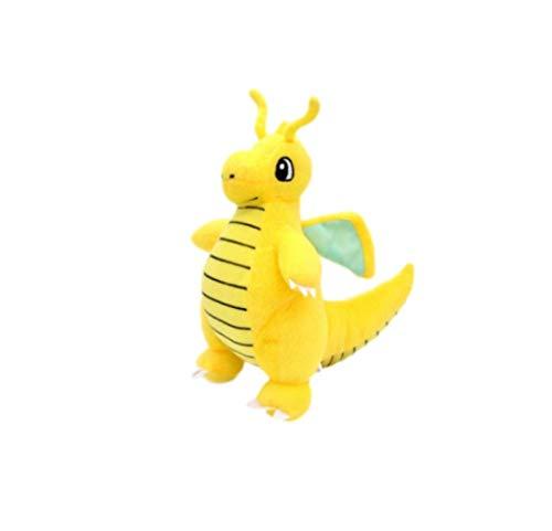 XINRUIBO Pokemon weicher Plüsch-Puppen Spielzeug Kleine gelbe Dinosaurier for Kinder Anime Glänzend Dragonite Stuffed Abbildung 22cm Pikachu Kuscheltier