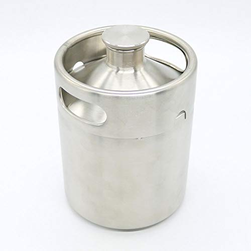 Home Brew Stainless Still Beer Growler Keg 5L Mini Pot for Bar Making Screw Cap