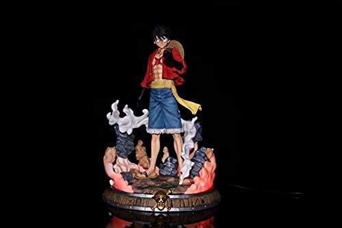 36cm Edizione limitata One Piece Monkey D. Rufy Ruf Paglia Cappello Corpo Statua luminosa Boxed Figure Modello Figure Giocattolo Ornamenti Collezioni Anime Adulto Capodanno Bambini regalo Decoratio
