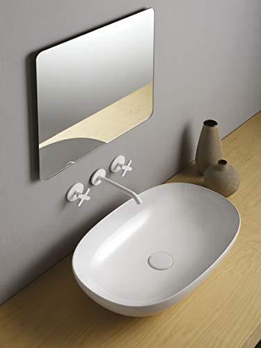 Fine Waschbecken Bagno Oval ohne Bohren Rubinetto_60_x_38,5_cm