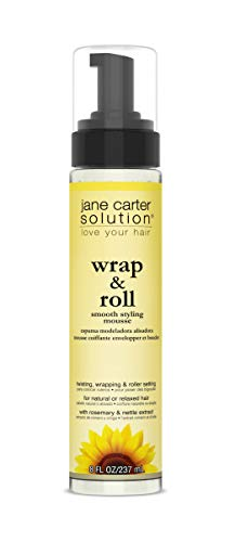 JANE CARTER SOLUTION Wrap & Roll Smooth Styling Mousse (8oz) - No Buildup, Smoothing, Styler