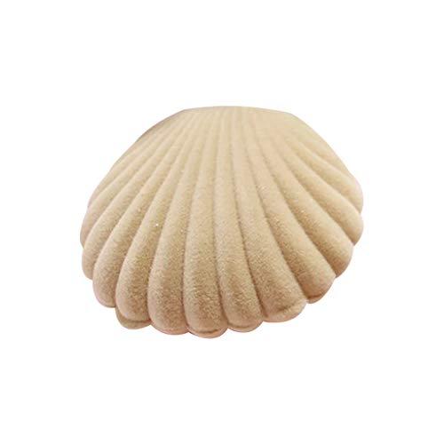 Yushu Caja de anillo de compromiso de terciopelo de lujo con forma de concha de mar para pendientes, collar y joyas, organizador de almacenamiento (material: terciopelo)