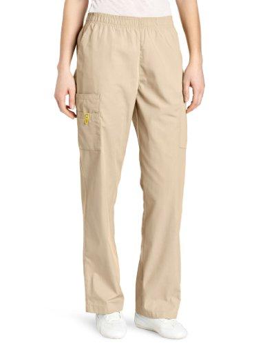 WonderWink Women's Scrubs Quebec Full Elastic Cargo Pant, Khaki, 5X-Large
