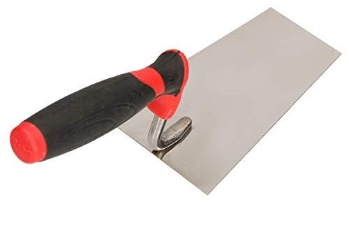 KOTARBAU® Edelstahl Trapezkelle 140 mm x 60 mm Maurerkelle mit Gummigriff Stukkateurkelle Putzkelle Stukkateurspachtel unabdingbar für Mauererarbeiten