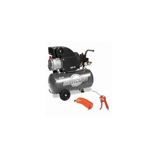 MERCURE Compresseur horizontal - Avec accessoires - 24 L - 1500 W