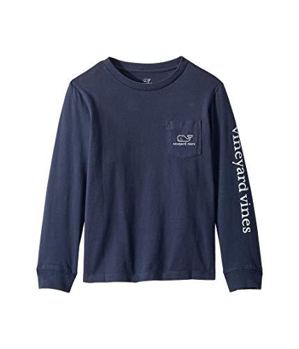 Vineyard Vines Camiseta Vintage de Manga Larga para niños, Azul (Blue Blazer),...