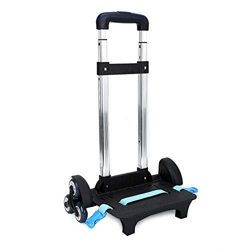 Chariot pour Cartable Scolaire Chariot pour Sac à Dos avec 6 roulettes Chariot Sac Scolaire Enfant Fille Garcon